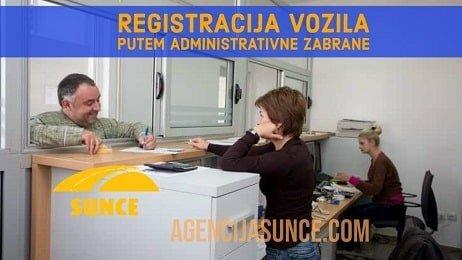 Registracija vozila putem administrativne zabrane