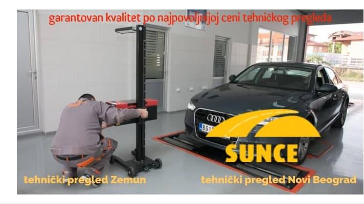 Cena tehničkog pregleda - tehnički pregled Sunce