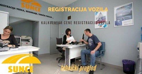 Kalkulator registracije vozila Sunce