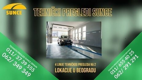 Tehnicki pregledi Sunce - Novi Beograd i Zemun