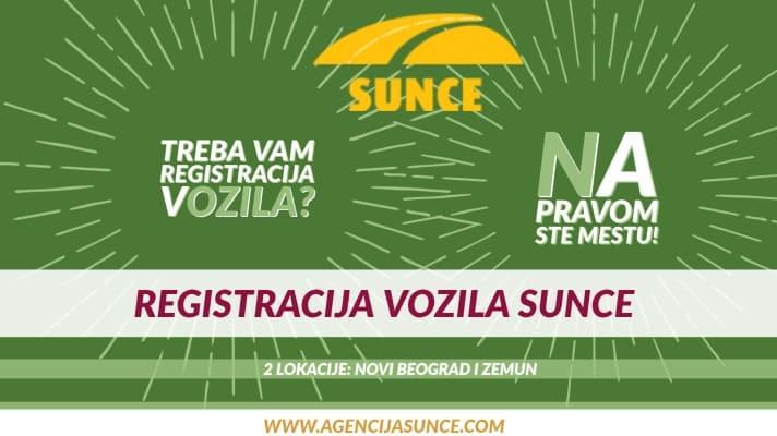 Registracija vozila Sunce pravilnik