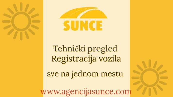 Tehnicki i registracija na jednom mestu - Sunce